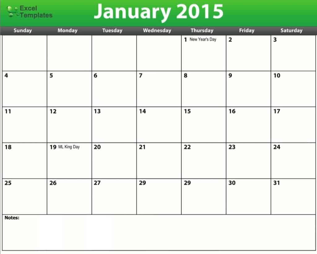 2015 calendar schedule template - Word Excel