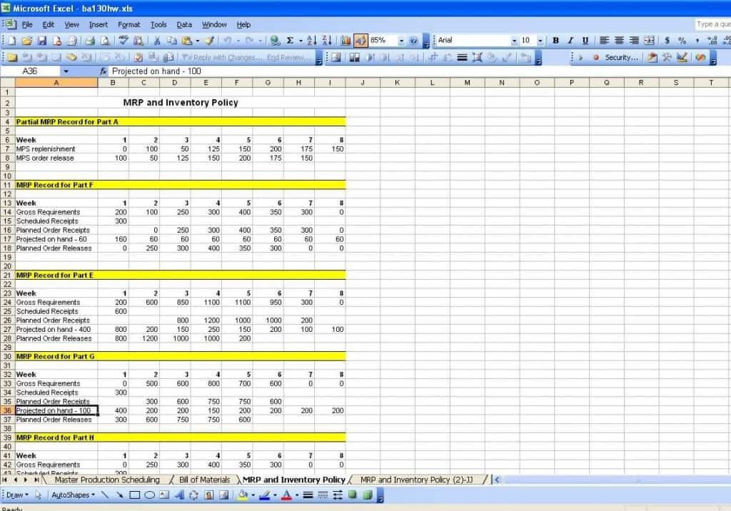 Production Schedule Template  Word Excel
