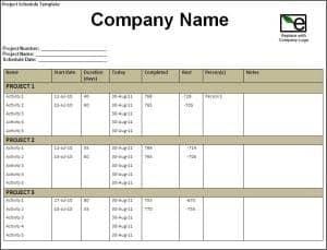 project schedule maker
