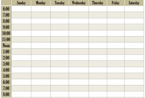 blank weekly schedule template archives schedule templates