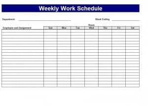 excel schedule maker