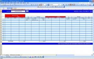 Disbursement schedule template