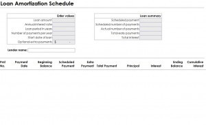 Loan Amortization Schedule Template Word Excel